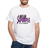 I wear purple Mens White T-shirts