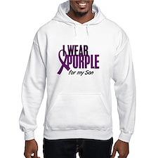 I Wear Purple For My Son 10 Hoodie