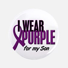 "I Wear Purple For My Son 10 3.5"" Button"