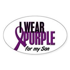 I Wear Purple For My Son 10 Oval Decal