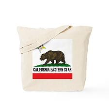 California Flag Eastern Star Tote Bag