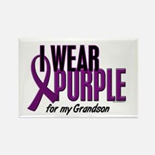 I Wear Purple For My Grandson 10 Rectangle Magnet