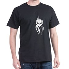 Flaming Skull 4Black Tee T-Shirt