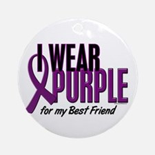 I Wear Purple For My Best Friend 10 Ornament (Roun