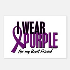 I Wear Purple For My Best Friend 10 Postcards (Pac