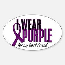 I Wear Purple For My Best Friend 10 Oval Decal