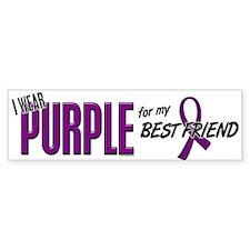 I Wear Purple For My Best Friend 10 Car Sticker
