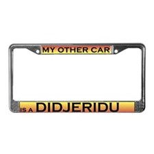 Didjeridu License Plate Frame