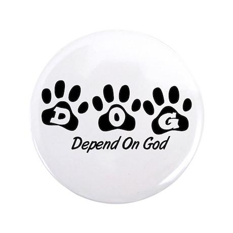 "Black DOG 3.5"" Button (100 pack)"