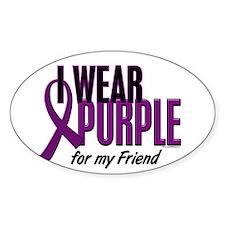 I Wear Purple For My Friend 10 Decal