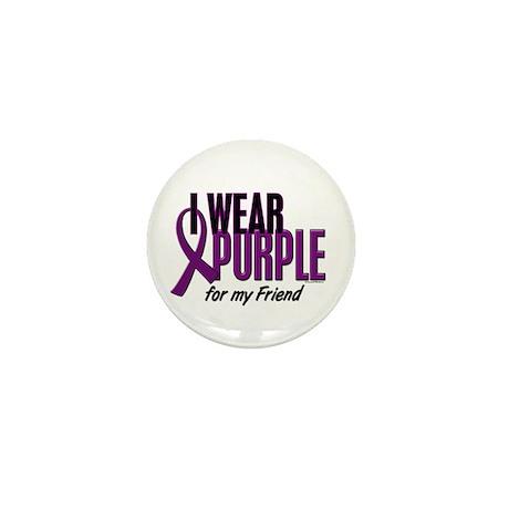 I Wear Purple For My Friend 10 Mini Button