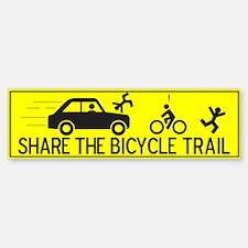 Share The Bicycle Trail Bumper Bumper Bumper Sticker