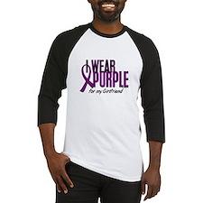 I Wear Purple For My Girlfriend 10 Baseball Jersey