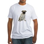 Fawn Pug Fitted T-Shirt