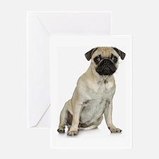 Fawn Pug Greeting Card
