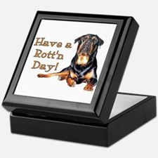 Rottweiler Rott'n Day Keepsake Box