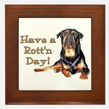 Rottweiler Rott'n Day Framed Tile