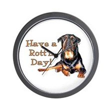 Rottweiler Rott'n Day Wall Clock
