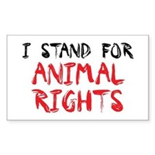 Animal rights Rectangle Decal