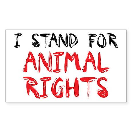 Animal rights Rectangle Sticker 10 pk)