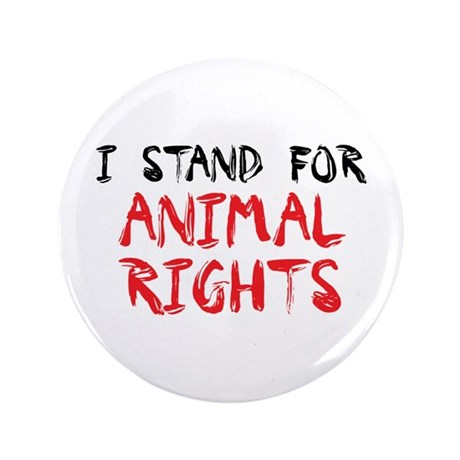 """Animal rights 3.5"""" Button (100 pack)"""