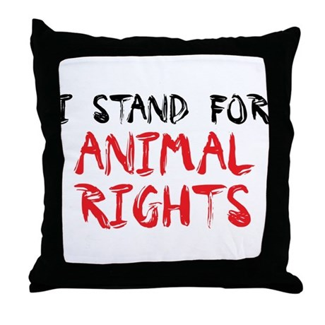 Animal rights Throw Pillow