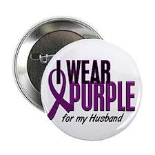 "I Wear Purple For My Husband 10 2.25"" Button"