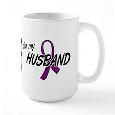 I Wear Purple For My Husband 10 Mug