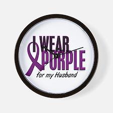 I Wear Purple For My Husband 10 Wall Clock