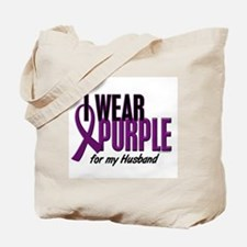 I Wear Purple For My Husband 10 Tote Bag