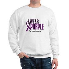 I Wear Purple For My Husband 10 Sweatshirt