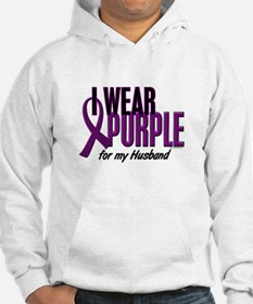 I Wear Purple For My Husband 10 Hoodie