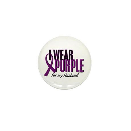 I Wear Purple For My Husband 10 Mini Button