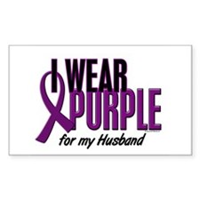 I Wear Purple For My Husband 10 Decal