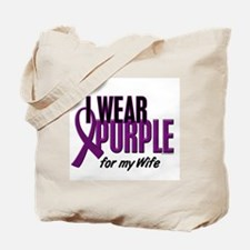 I Wear Purple For My Wife 10 Tote Bag