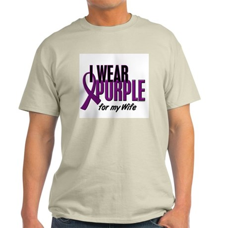 I Wear Purple For My Wife 10 Light T-Shirt