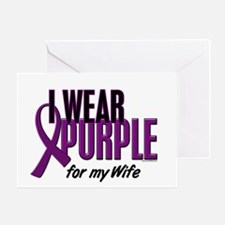 I Wear Purple For My Wife 10 Greeting Card