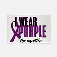 I Wear Purple For My Wife 10 Rectangle Magnet