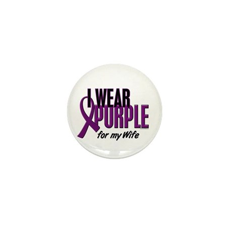 I Wear Purple For My Wife 10 Mini Button