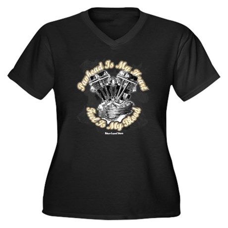 Panhead is my Heart - Fuel my Women's Plus Size V-