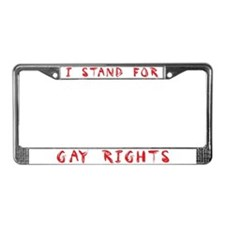 GAY RIGHTS License Plate Frame