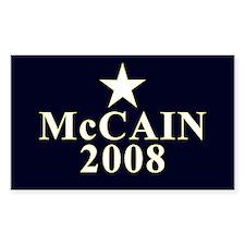 McCain 2008 Star Rectangle Decal