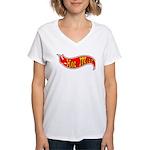Hot milf design Women's V-Neck T-Shirt