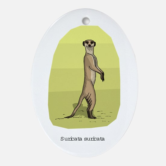 Meerkat Oval Ornament