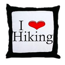 I Heart Hiking Throw Pillow