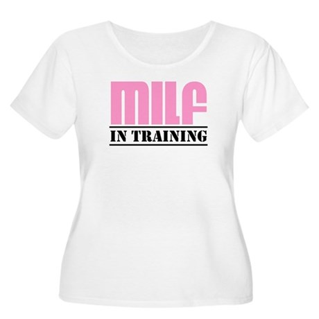 milf in training Women's Plus Size Scoop Neck T-Sh