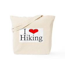 I Heart Hiking Tote Bag