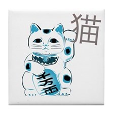 Mint Maneki Neko Tile Coaster