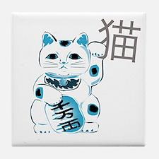 Mint Maneki Neko Tile Coaster