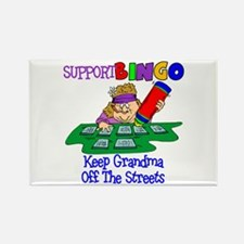 Support Bingo Funny Rectangle Magnet